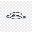 paella concept linear icon isolated on vector image
