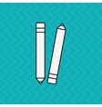pencil icons design vector image vector image
