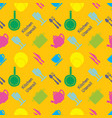 pixel art kitchen utensil pattern vector image vector image