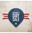 Presidents Day Sale on Blue Label vector image