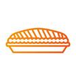 pumpkin pie food thanksgiving day celebration vector image vector image
