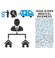 Realty Manager Icon with 1000 Medical Business vector image