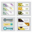 set of minimal covers design colorful halftone vector image vector image
