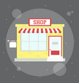 small cute shop vector image