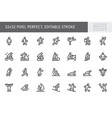 sport people flat icons vector image