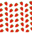strawberry fruit harvest fresh seamless pattern vector image vector image