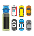 transportation means set in colors isolated on vector image vector image