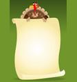 turkeys holding menu vector image