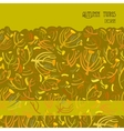 Twigs pattern Golden autumn background with vector image vector image