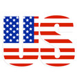 typography with united states flag clipped in it vector image vector image