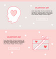 valentines day concept banner templates in line vector image vector image