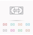 Video cassette icon VHS tape sign vector image vector image