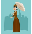 Wealthy Cartoon Victorian Lady Businesswoman vector image vector image