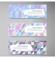 wed banners Set color elemet and square vector image