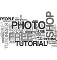 why get a free photo shop tutorial text word vector image vector image