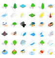 wind icons set isometric style vector image vector image