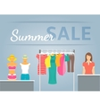 Women clothes collection in shop interior vector image vector image