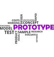 word cloud - prototype vector image