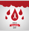 world hemophilia day drops of blood symbol vector image