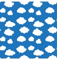 Flat design cloudscapes seamless pattern vector image