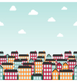 Seamless background pattern with colorful town vector image
