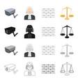 barbed wire in prison video surveillance judge s vector image