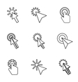 Cursor icons set outline style vector image