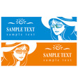 girl in a hat and sunglasses vector image
