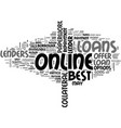 a beginners guide to the best online loans text vector image vector image