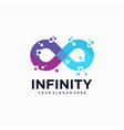 abstract infinity logo template design vector image