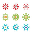 abstract red green blue design icon logos set vector image