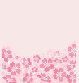 background from silhouettes flowers vector image