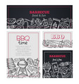 barbecue time banners vector image vector image
