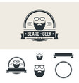 beard barber shop vintage emblem design eps 10 vector image