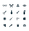 beauty salon icons set vector image