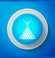 billiard cue and balls in a rack triangle icon vector image