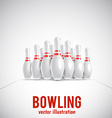 bowling realistic theme eps 10 vector image