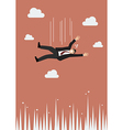 Businessman falling to the needle vector image vector image