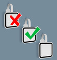 Check Mark Yes NO Stickers vector image vector image