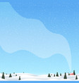 christmas winter countryside landscape with pines vector image vector image