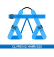 climbing harness icon vector image