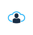 cloud user logo icon design vector image