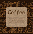 coffee icons seamless pattern vector image