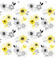 contemporary spring floral seamless pattern with vector image vector image