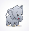 cute baby elephant character vector image vector image