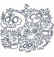 day dead line art print holy death vector image vector image