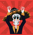 day of the dead celebration vector image vector image