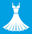 dress icon white vector image vector image