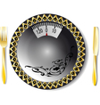 empty plate with weights vector image vector image