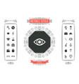 eye - halftone logo vector image